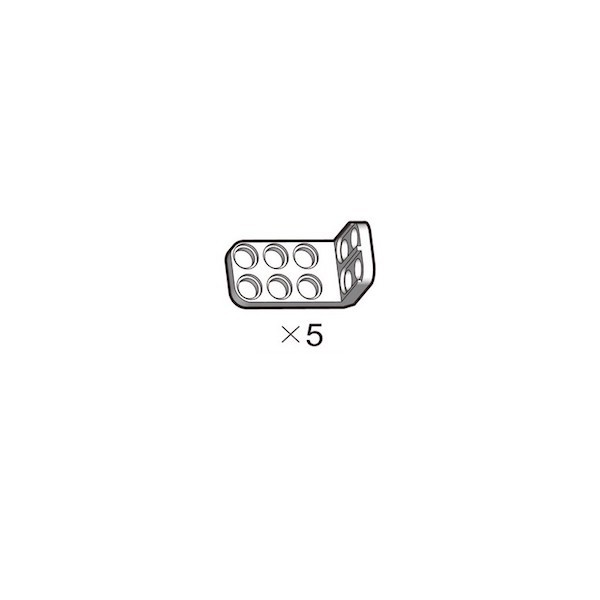 OLLO Dual Bracket-L white 5pcs