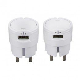 Chargeur Secteur USB 2 ports - 2A 5V