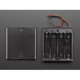 4fach Batteriefach mit Ein/Aus Schalter