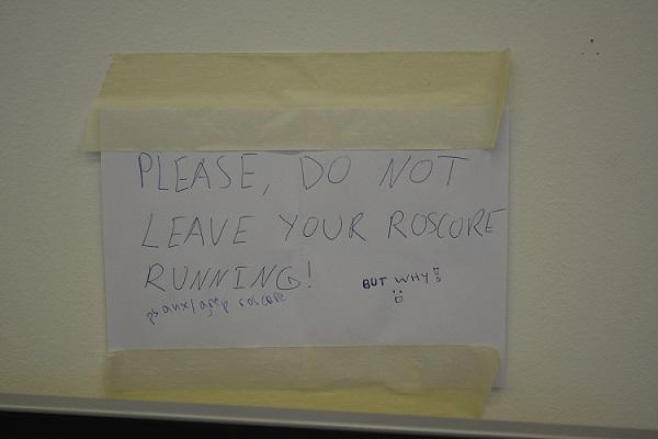 Message ROS bien utile affiché à l'EPFL.