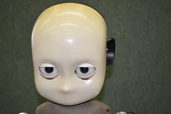 Le robot humanoïde Icub de l'EPFL de Lausanne