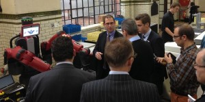 The Baxter collaborative during the Smart Factory days organized by Sirris