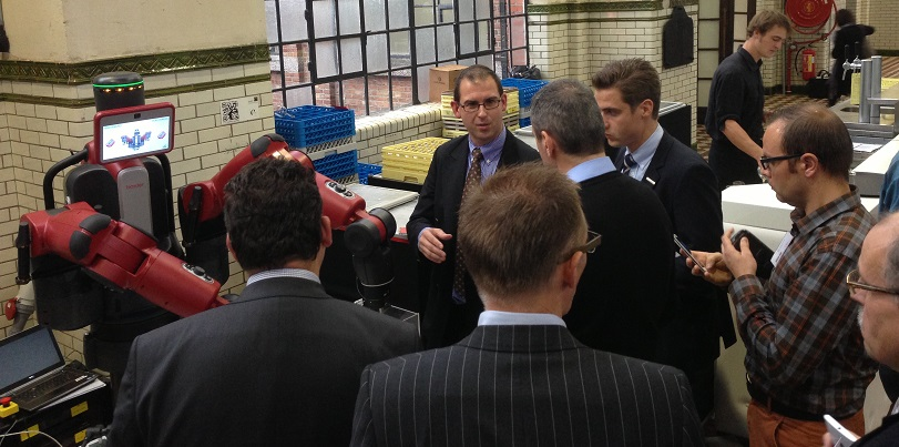 Baxter during the Smart Factory day in Belgium