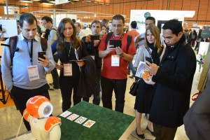 NAO plays poker during Innorobo 2014