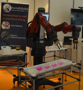 Baxter handling objects at Innorobo 2014