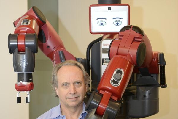 Rodney et le robot collaboratif Baxter de Rethink Robotics