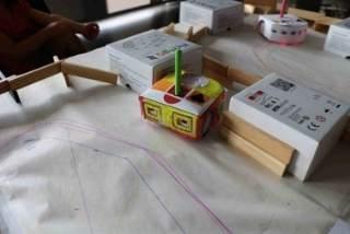 Realisation faite avec le module Inirobot et le robot mobile Thymio 2
