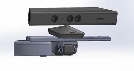 Capteur Kinect v1.1 motorisé et son support pour robot Baxter