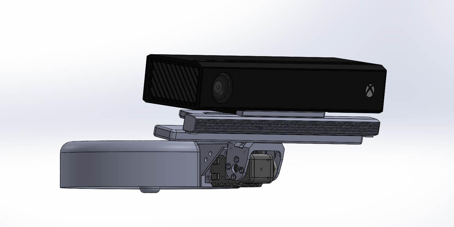 Capteur Kinect v2 motorisé et son support pour robot Baxter