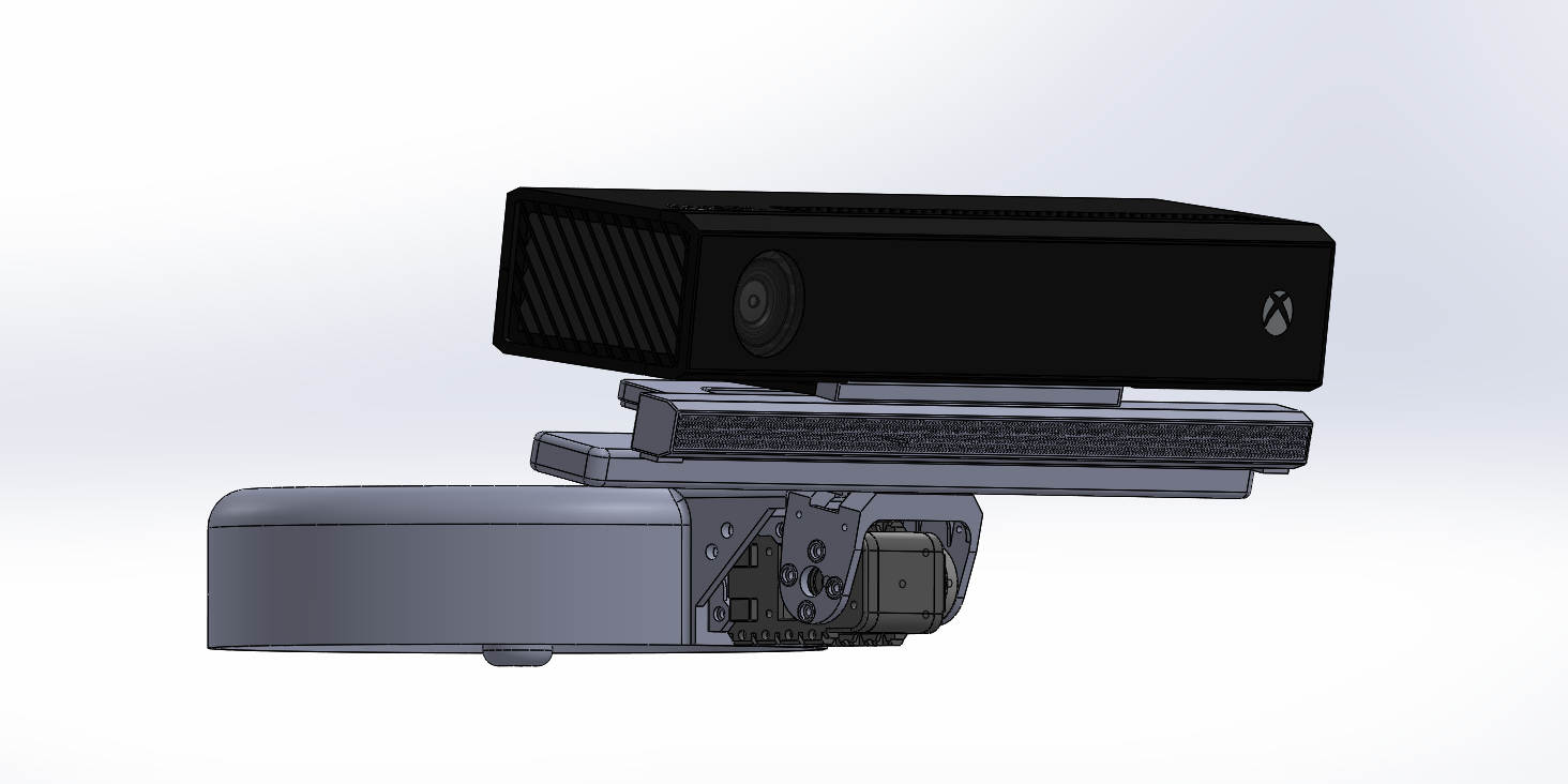 Kinect Tiefensensor-Kamera v2 mit Halter für den motorisierten Helm des Baxter Roboters