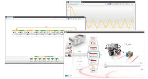 Mithilfe der EV3-Software kann die Roboterprogrammierung auf unterhaltsame Weise erlernt werden.