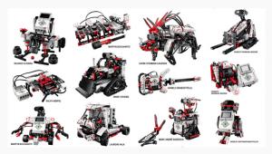 Each EV3 kit contains numerous robot models