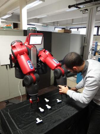 Interaction homme-robot avec Baxter