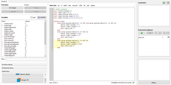 Programmer le robot Thymio par texte