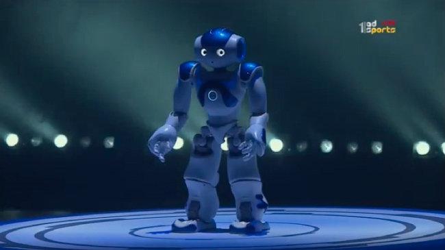 Roboter NAO blau