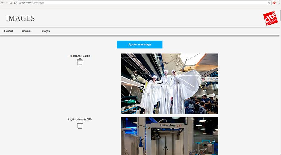 Interface Génération Robots pour Universcience
