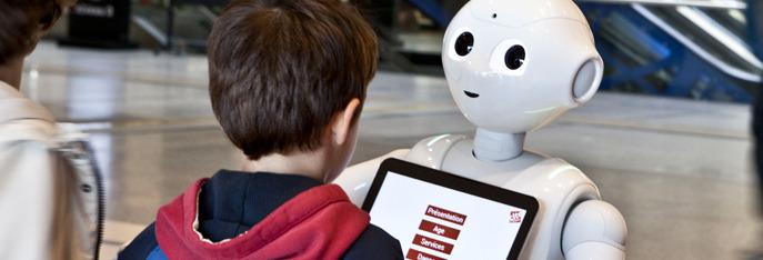 Ca client GR Lab : Pepper à l'accueil de la Cité des Sciences et de l'Industrie
