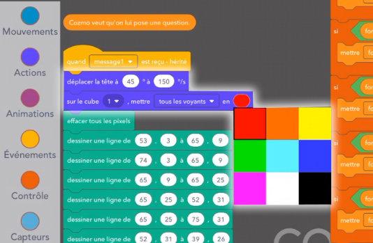 cozmo code lab mode constructeur lumières des cubes