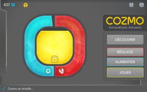 Application Cozmo - écran d'accueil