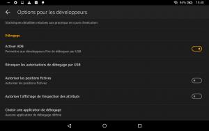 Cozmo SDK Tablette_adb_debogage_actif
