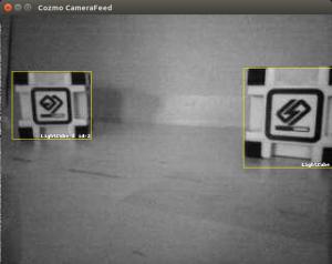 Vue de la caméra de Cozmo