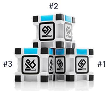 Reconnaître les 3 cubes de Cozmo