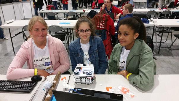 Robocup - L'équipe française A-Maze-Ing avant l'épreuve Maze