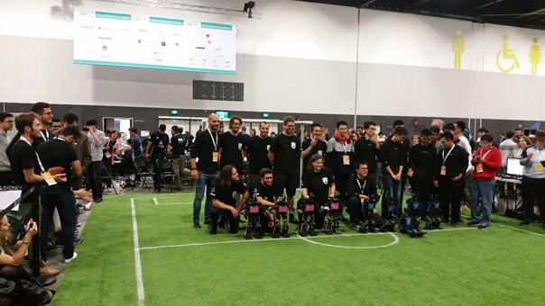 L'équipe Rhoban System remporte sa 4ème étoile à la RoboCup