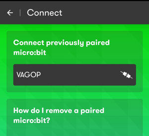 The micro:bit app will assign an ID to your card