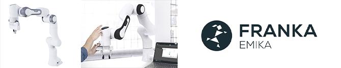 bannière présentant le bras robotique Panda de Franka Emika