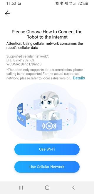 Connectez le robot Alpha Mini à internet