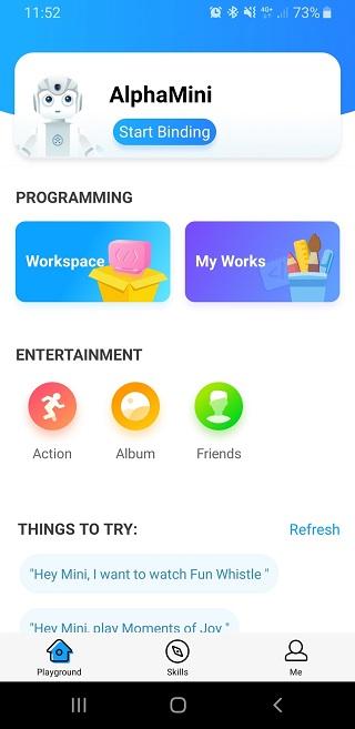 Connectez le robot Alpha Mini à votre smartphone