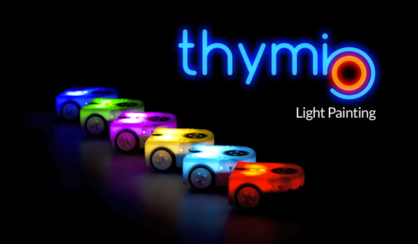 activité Thymio light painting
