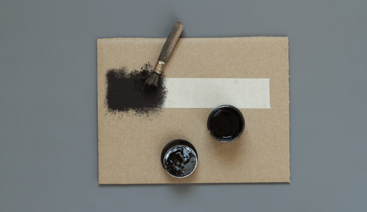 Make a switch with adhesive tape and conductive paint