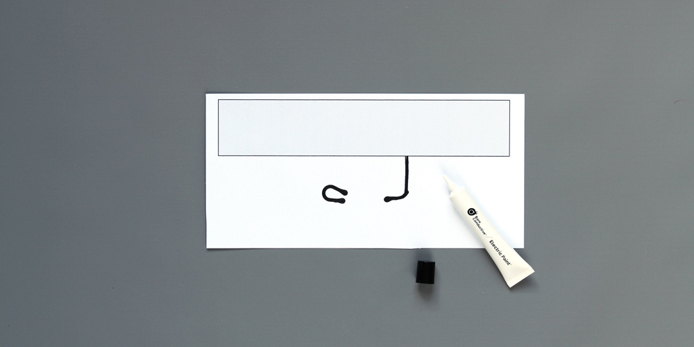 Draw your first circuits with Bare Conductive paint