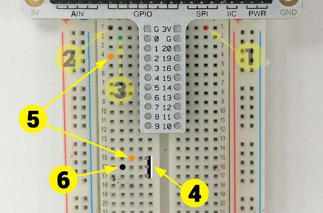 Montage électronique pour micro:bit : arrosage automatique - étape 2