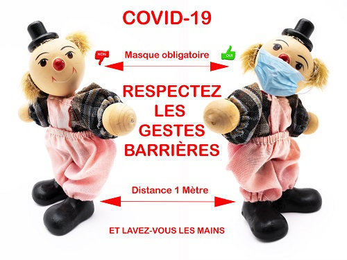 Covid-19: respect the barrier gestures