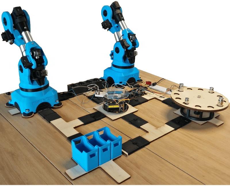 Mini montage industriel avec le bras robotique Niryo One