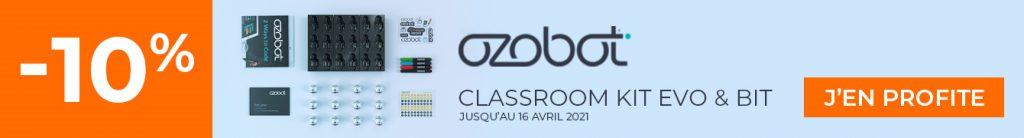 10% de remise sur le pack Ozobot Classroom Kit