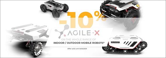 Kontaktieren Sie uns, um von einem 10%igen Rabatt auf das gesamte AgileX-Sortiment zu profitieren