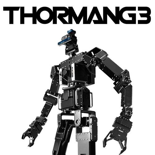 The ThorManG3 humanoid robot is built using Dynamixel servo motors
