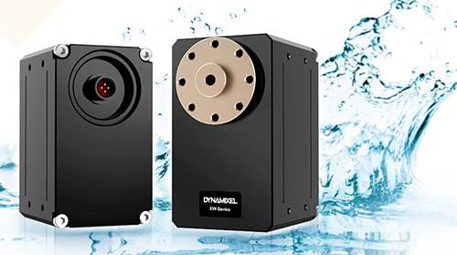 The Dynamixel XW servo motors are waterproof