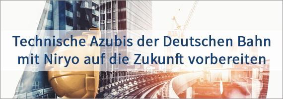 Technische Auszubildende der Deutschen Bahn werden mit Niryo auf die Zukunft vorbereitet.