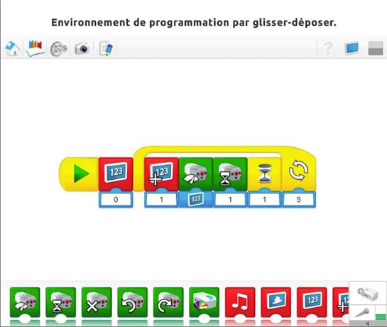 LEGO WeDo : programmation par blocs