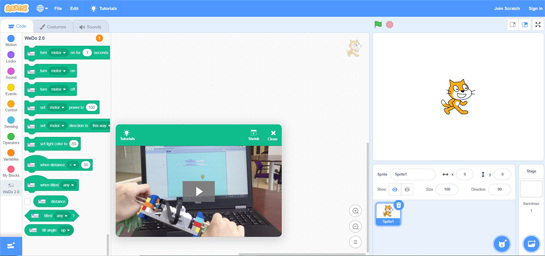 LEGO WeDo : programmation avec Scratch 3.0
