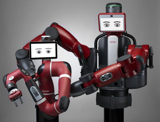 les robots collaboratifs Sawyer et Baxter tournent sur la même plateforme évolutive et compatible ROS Intera