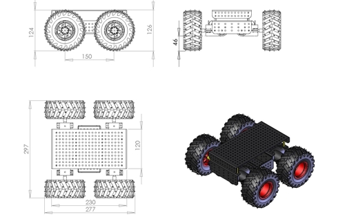 Schema of the chassis of this outdoor mobile robot