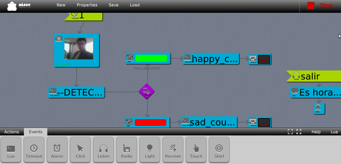 DIA graphical programming interface for Aisoy1
