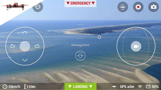 Application Freeflight 3 pour le drone Bebop de Parrot