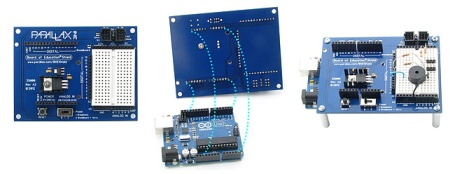 Connection of the Boe Shield for Arduino and the Arduino arduino Board